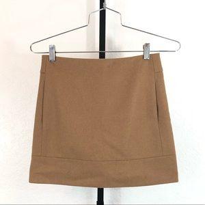 J. Crew-Tan Wool Mini Skirt-0